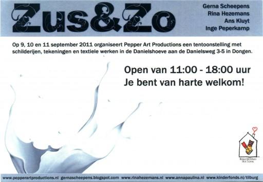 Uitnodiging tentoonstelling Zus&Zo